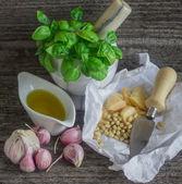 Ingredienser för pesto — Stockfoto