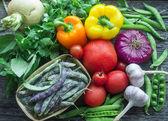 Färska grönsaker från trädgården — Stockfoto