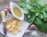 Ingredientes para o pesto — Foto Stock
