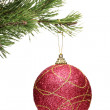 Ball hanging on christmas tree — Stock Photo #45857001