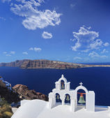 Church bells on Santorini island — Stock Photo