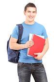 Studentowi gospodarstwa książki — Zdjęcie stockowe