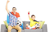 Male sport fans — Stock Photo