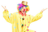 Male funny circus clown — Stock Photo
