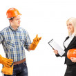 Worker having conversation with architect — Stock Photo #45860075