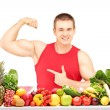 Man showing his muscles — Stock Photo #45862079