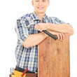 Male construction worker posing — Stock Photo