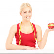 Woman holding an apple — Stock Photo #45862919