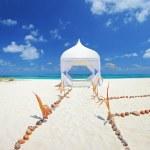 Wedding tent on a beach — Stock Photo #45864351
