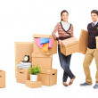 Male and female preparing for moving — Stock Photo #45864379