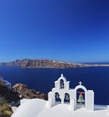 Church bells on Santorini island — Stock Photo