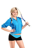 Kadın squash oyuncusu — Stok fotoğraf