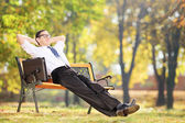 Businessman taking a break after work — Stock Photo