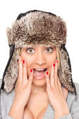 Surprised woman — Foto de Stock