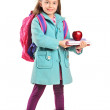 Children holding books and apple — Stock Photo #45877357