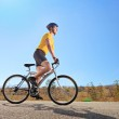 Male riding a bike on a sunny day — Stock Photo #45879217