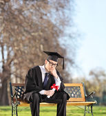 Sad graduate student — Stock Photo