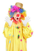 Clown gesturing with hands — Stock Photo