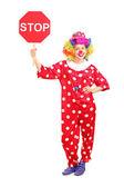Clown anläggning stoppskylt — Stockfoto