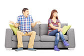 Young couple during an argument — Stock Photo