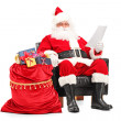 Santa Claus reading letter — Stock Photo #45880989