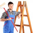 Painter with paint roller — Stock Photo #45881015