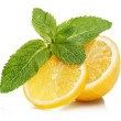 Slices of lemon and mint — Stock Photo #45887161