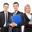 Team of three businesspeople — Stock Photo