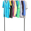 Clothes on hang rail — Stock Photo #45889289