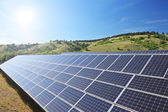 Solar photovoltaic cell panels — Stock Photo