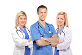 Medical doctors with stethoscopes — Stock Photo
