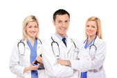 Medical team of doctors — Stock Photo