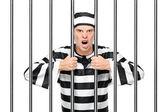 Agitated prisoner in jail — Stock Photo