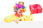Clown with cheerful expression — Stock Photo