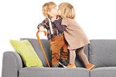 Girl kissing boy — Stock Photo