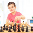 Boy playing chess — Stock Photo #45891201
