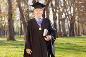 University dean posing in park — Stockfoto