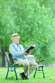 Mature man relaxing in park — Stock Photo