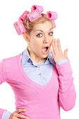 Woman in disbelief — Stock Photo
