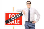 Male real estate agent — Stock Photo