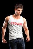 Handsome lifeguard — Stock Photo