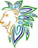 The Lion Head Symbol — Stock Vector