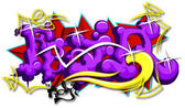 Fear Art Graffiti — Stock Vector