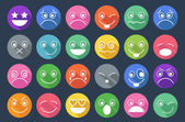 Smiley Icons Flat Design — Stock Vector