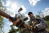 Fishing man — Stock Photo