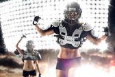 American football female players — Stock Photo