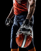 Football sportsman player — Stock Photo