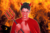 Devil boy — Stock Photo