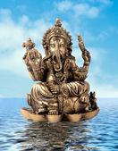 God Ganesha on water — Stock Photo