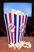 Popcorn at the cinema — Stock Photo